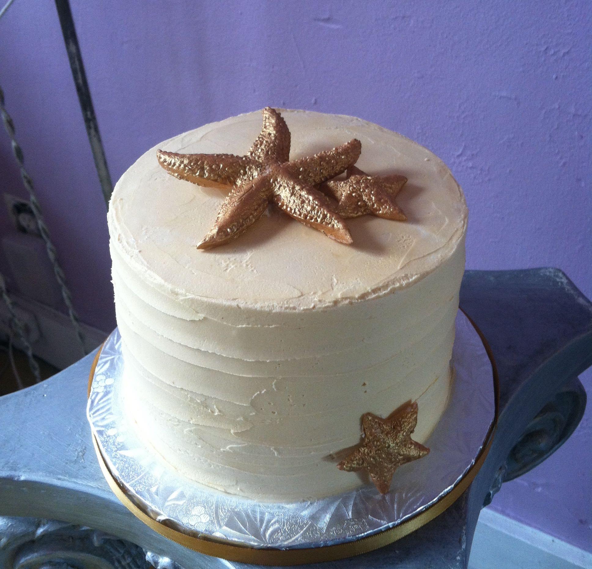 Brilliant Starfish Buttercream Cake Sugar High Bakery Personalised Birthday Cards Akebfashionlily Jamesorg